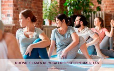 Nuevas clases de Yoga en Fisio-Especialistas